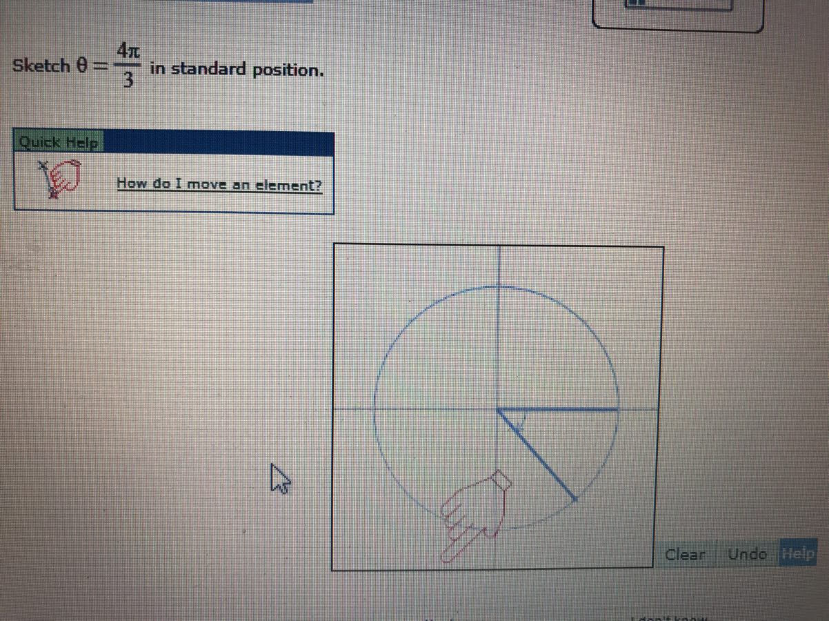 Sketch theta 4pi3 in standard position got it study question image falaconquin